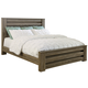 Zelen King Poster Bed in Warm Gray