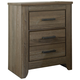 Zelen Two Drawer Night Stand in Warm Gray B248-92