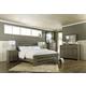 Zelen 4pc Poster Bedroom Set in Warm Gray