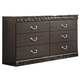 Vachel Classic Dresser in Dark Brown B264-31