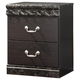 Vachel Two Drawer Nightstand in Dark Brown B264-92