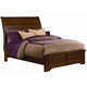 All-American Hanover King Sleigh Low Profile Bed in Cherry
