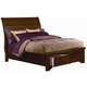 All-American Hanover King Sleigh Storage with Low Profile Bed in Cherry