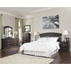 Vachel 4pc Panel Bedroom Set in Dark Brown