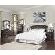 Vachel 4pc Panel Bedroom Set in Dark Brown