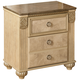 Saveaha Two Drawer Nightstand in Light Beige B346-92