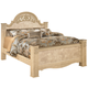 Saveaha King Poster Bed in Light Beige