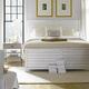Stanley Furniture Coastal Living Resort Cape Comber Panel Bedroom Set in Sail Cloth