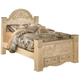 Saveaha Queen Poster Storage Bed in Light Beige