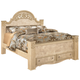 Saveaha King Poster Storage Bed in Light Beige