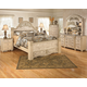 Saveaha 4pc Poster Storage Bedroom Set in Light Beige