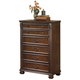 Leahlyn Five Drawer Chest in Warm Brown B526-46