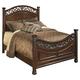 Leahlyn Queen Panel Bed in Warm Brown