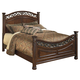 Leahlyn California King Panel Bed in Warm Brown