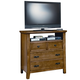 All-American Timber Mill Media Chest in Oak