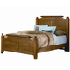 All-American Woodlands Full Broomhandle Poster Bed in Oak