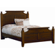 All-American Timber Mill Full Broomhandle Poster Bed in Pine