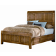 All-American Woodlands Queen Wood Timber Panel Bed in Oak