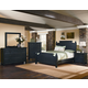 All-American Woodlands 4-Piece Broomhandle with Storage Poster Bedroom Set in Charcoal