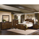 All-American Woodlands 4-Piece Broomhandle with Storage Poster Bedroom Set in Pine