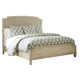 Demarlos Queen Upholstered Panel Bed in Parchment White