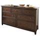 Hindell Park Vintage Dresser in Dark Brown B695-31