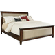Hindell Park King Upholstered Sleigh Bed in Dark Brown