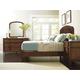 Stanley Furniture Vintage Portfolio Upholstered Bedroom Set in Vintage Cherry