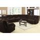 Acme Ahearn Living Room Set in Chocolate