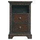 Stanley Furniture Transitional Portfolio Telephone Table in Polished Sable 042-13-81