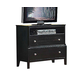 Acme Abram TV Console with Open Component Storage in Espresso 21407