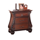 ACME Abramson Traditional Two Drawer Nightstand in Cherry 22365