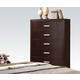 ACME Ajay Six Drawer Chest in Espresso 21436