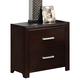 ACME Ajay Two Drawer Nightstand in Espresso 21433