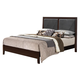 Acme Ajay King Panel Bed with Upholstered Headboard 21417EK