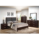 Acme Ajay Panel Bedroom Set with Upholstered Headboard in Espresso