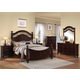 Acme Cleveland Poster Bedroom Set with Round Finials in Dark Cherry