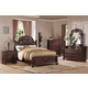Acme Daruka Poster Panel Bedroom Set with Decorative Wood Carving in Cherry