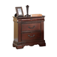 ACME Estrella Traditional Two Drawer Nightstand in Dark Cherry 20733