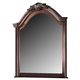 ACME Estrella Traditional Arched Shaped Mirror in Dark Cherry 20734