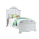 Acme Estrella Youth Twin Panel Bed in White 30240T