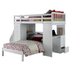 Acme Freya Loft Bed Set with Twin Bed in White 37145/37152