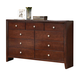 ACME Ilana Contemporary Nine Drawer Dresser in Brown Cherry 20405