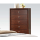 ACME Ilana Contemporary Five Drawer Chest in Brown Cherry 20406