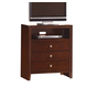ACME Ilana Contemporary TV Console in Brown Cherry 20407