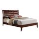 Acme Ilana Queen Platform Bed with Slat Design Headboard in Brown Cherry 20400Q