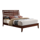 Acme Ilana King Platform Bed with Slat Design Headboard in Brown Cherry 20397EK