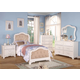 Acme Ira Button Tufted Youth Bedroom Set in White