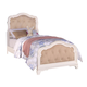 Acme Ira Twin Button Tufted Youth Bed in White 30145T