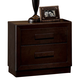 ACME Ishaan Contemporary Two Drawer Nightstand in Dark Merlot 21493
